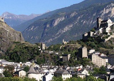 Dwa wzniesienia kościele w Sion
