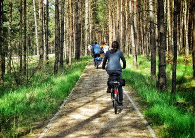 Rowerzyści na ścieżce - Kaszubska Marszruta