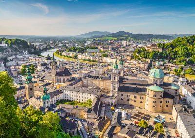 Salzburg widziany z lotu ptaka