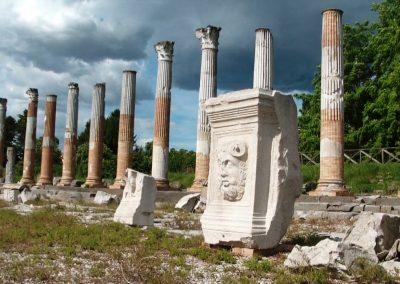 Ruiny dawnego forum romanum w Akwilei