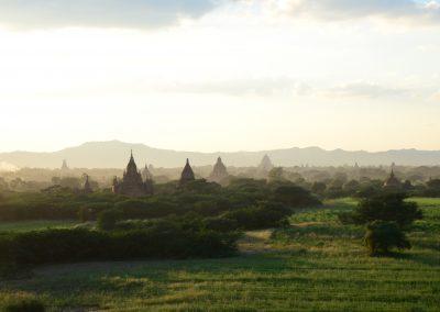 Piękny widok na Kambodżańskie pola