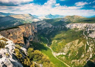 Piękna panorama Kanionu Verdon
