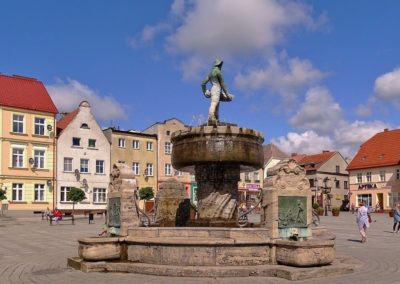 Centrum miasta w Ustce