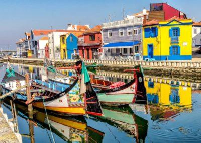 Piękne łodzie w Aveiro