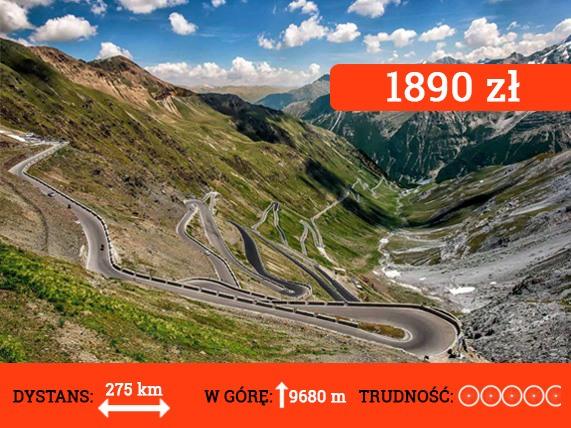 Wyprawa rowerowa Alpy Włoskie - cena