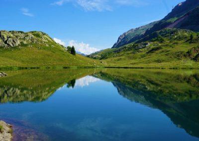 Jezioro na końcu przełęczy Alpe d'Huez