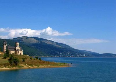 Jezioro Mavrovo w Macedonii
