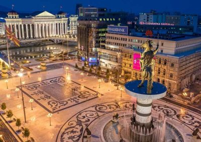 Panorama stolicy Macedonii - Skopje
