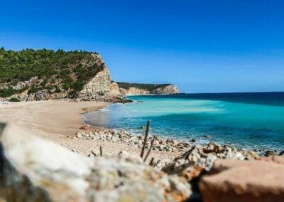 Piękne wybrzeże Portugalii